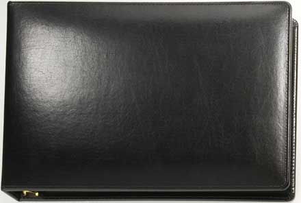 Black Binder - 7 Ring bonded leather