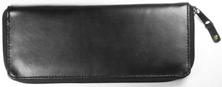 Partner Zippered Black Leather