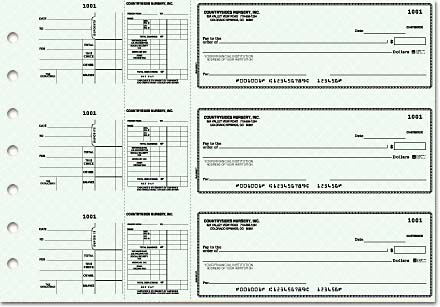 Blue Safety Payroll General Purpose 3-on-a-Page Checks Duplicates
