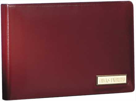 Personalized Burgundy Leather Binder - 7 Ring