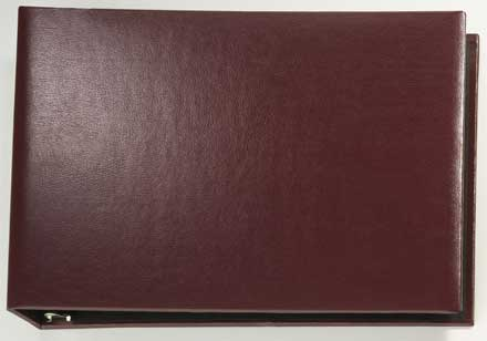 Burgundy Binder - vinyl 7 Ring