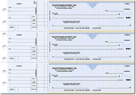Country Club General Purpose 3-on-a-Page Checks Duplicates
