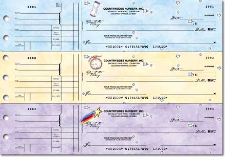 Flavia Dreams General Purpose 3-on-a-Page Checks - Singles