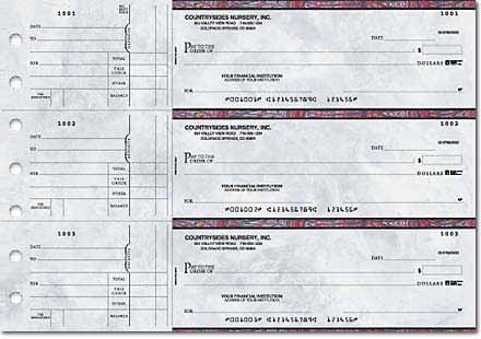 Executive Gray General Purpose 3-on-a-Page Checks Duplicates