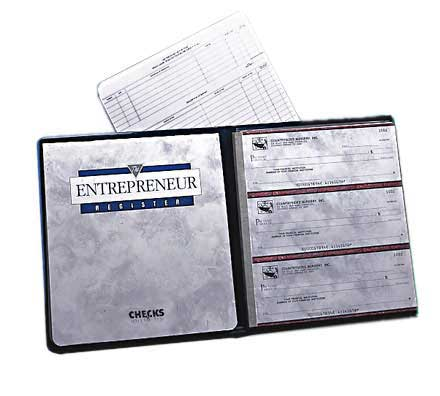 Executive Gray Entrepreneur Checks - Singles