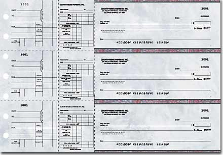 Executive Gray Payroll General Purpose 3-on-a-Page Checks Duplicates