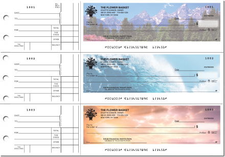 Nature's Majesty General Purpose 3-on-a-Page Checks - Singles