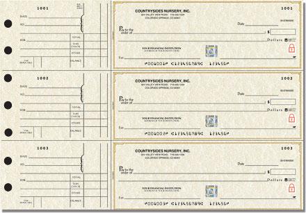 Securiguard Premium Parchment General 3-on-a-Page Checks - Singles