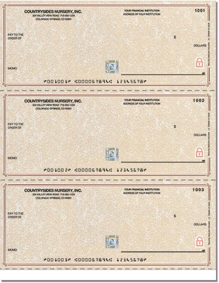 Securiguard Premium Parchment Laser Unlined No Voucher Checks - Singles