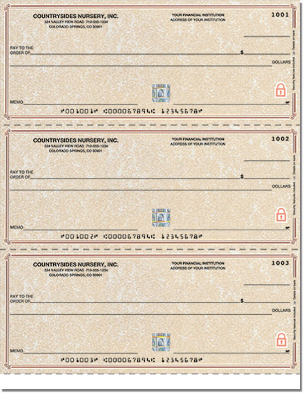 Securiguard Premium Parchment Laser Checks Lined No Voucher Singles