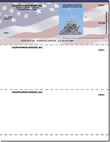 Stars & Stripes Laser Checks Check on Top Singles