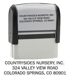 Click on Standard- Return Address Stamp  image to see enlarged version