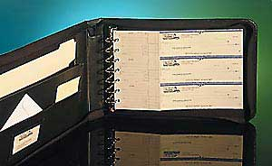 The Portfolio 7 Ring Check Binder Checks Unlimited Business