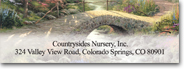 Click on Serenity by Thomas Kinkade Sheeted Labels image to see enlarged version