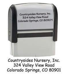 Contemporary Return Address Stamp